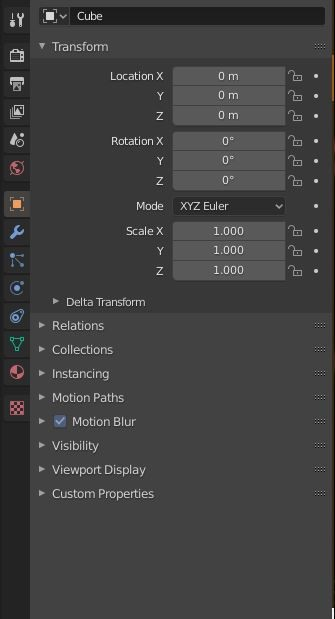 Object Properties (in Cycles engine)