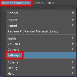 Select Radeon ProRender
