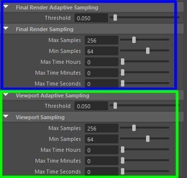 Final Render Adaptive Sampling